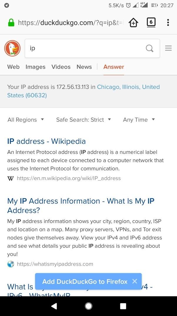 Fi IP address